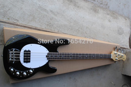 Wholesale Pickups Bass Guitar - Free Shipping 4 strings music man stingRay bass electric bass with 9V Battery amplifier circuit Active pickups guitar 151007