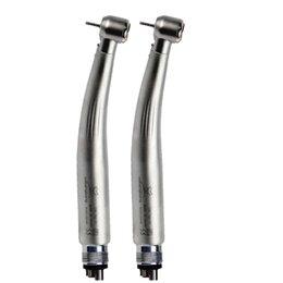 Wholesale Dental High Speed Holes - 2pc KAVO Style Dental LED Fiber Optic High Speed Handpiece E-generator 4 hole