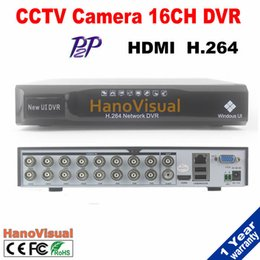 Wholesale Dvr H 264 For Iphone - Remote View P2P 16CH DVR Support iPhone Android PTZ RS485 16 channel CIF HDMI H.264 For CCTV Camera Motion Detect Free Shipping
