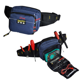 Wholesale tools waist pouch - FASITE Tool KIT WAIST BELT Bag Organizer Professional Electricians Tool Pouch Good Quality Free Shipping