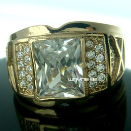 Wholesale Ring Size 15 - Size 8-15 Jewelry Women's AAA crystal 18KT Yellow Gold Filled Ring Gift r206
