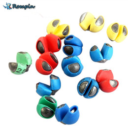 Wholesale Lead Split Shot - Rompin Fishing Fish Angling Lead Weight Split Shot Rig Sinkers covered with PU rubber protect fishing line