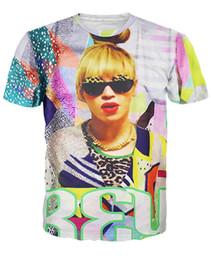 Homens neon camisa on-line-Bae-yonce t-shirt super neon dos anos 80 Beyonce design 3d impressão camiseta estilo verão moda clothing esporte tops tees para mulheres / homens