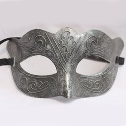 Wholesale white party masks for sale - Classic Retro Venice Masquerade Mask Half Face PVC Adult Performance Party Mask Cosplay Costume Accessories SD384 HOT Sale
