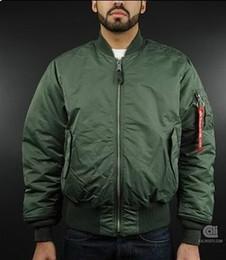 Wholesale Red Military Jackets - Fall-Alpha Military Jacket Ma1 Pilot Ma-1 Flight Flying Jacket Men Bomber Jacket Wholesale
