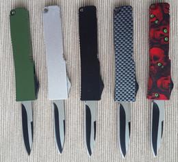 Hebilla de la hoja online-Aleación de aluminio y zinc de calidad superior mango 440 cuchilla de acero clave cuchillo de la hebilla del cuchillo plegable de fibra de carbono Mini EDC cuchillo de bolsillo que acampa D134Q