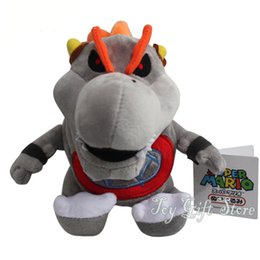 Wholesale Dry Bones Plush Doll - Free Shipping New Super Mario 3D Land Plush Doll Stuffed Toy Dry Bones Bowser Koopa 7""