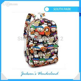 Wholesale Backpack Park - Wholesale-2015 fashion thermal wholesale custom kids children outdoor bicycle canvas high school cartoon south park backpack bag mochila