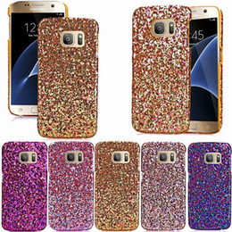 Wholesale Handmade Bling Phone Covers - Fashion Bling Glitter Case Luxury Colorful Handmade Powder Phone Cover for samsung galaxy S7 S7 edge S6 S6 edge iphone5s 6 6s plus