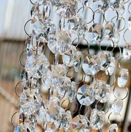 Wholesale Wholesale Manzanita Tree - 66 FT Crystal Garland Strands Clear Acrylic Bead Chain Wedding Party Manzanita Tree Hanging Wedding Decoration