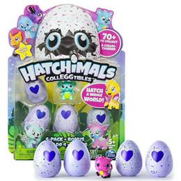 Wholesale Collection Eggs - 2017 Hatchimals Colleggtibles Season 1 Nest 4-Pack + Bonus Bundle Baby Mini Egg Carton Collection Toys for Kids Novelty Toy