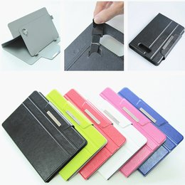 Wholesale Ipad Case Padded Leather - Universal PU Leather Case Cover for 7 inch-10 inch For Samsung Galaxy Note TAB ipad mini Honor x1 with stand free shipping high quality