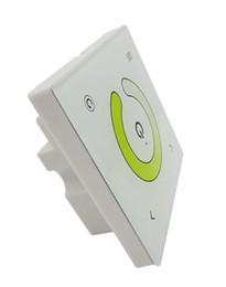 Светодиодный терморегулятор онлайн-2 канала сенсорная панель цветовая температура LED контроллер диммер Белый DC12-24V TM07 для светодиодные полосы света DIY 8 шт. / лот