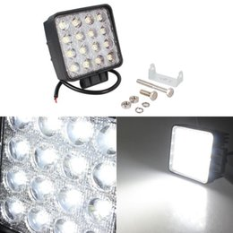 Wholesale Spot Light High Powered 12v - 48W 16X3W LED Work Light 12V 24V Flood Spot Offroad Driving Mining Truck Boat Marine Off road LED ATV LED Lights High Power