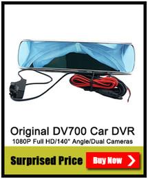 Wholesale Digital Super Zoom Camera - Car DVR Rearview Mirror Camera DV700 with Super Night Vision Allwinner HD 720P G-Sensor Video Recorder