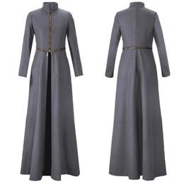 Wholesale Women S Wool Maxi Coat - Solid women winter coats stand collar zipper split maxi long winter woolen trench coats detachable fashion slim overcoat outwear OXL9567