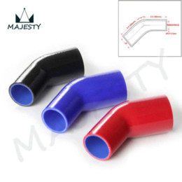 Wholesale Elbow Silicone Hose - 1 pcs 51mm-64mm Racing Silicone Hose Hose 45 Degree Reducer Elbow Pipe Intercooler Turbo packing size 19*13*9 blue M45337