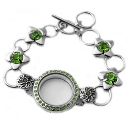 Wholesale Wholesale Locket Bracelet - M00061 wholesale 2015 newest design hot sale floating locket bracelet Living Memory Glass locket bracelet