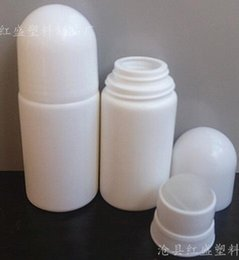 Wholesale Empty Roll Plastic - 500pcs 50ml Empty Roll on Deodorant Bottle container Craft homemade professiona Bottle White Free EMS Shipping