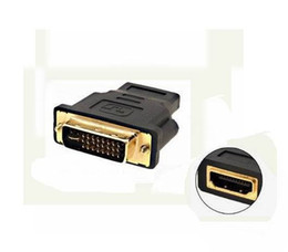 Wholesale Dual Dvi Adapter - Free Shipping 1 Piece New DVI-I Dual-Link 24+5 Male to HDMI Female Adapter # 245