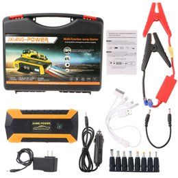 Wholesale Battery Booster Starter - Professional 89800mAh 12V 4 USB Car Jump Starter Pack Booster Charger Battery Power Bank Free Shipping