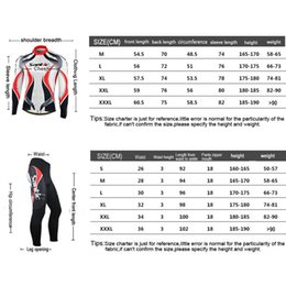 Wholesale Mtb W - Wholesale-Santic Long Sleeve Cycling Set Comfortable-fitting Full Zipper Bike Tops Jacket W  4D Padded Pants MTB Bicycle Jersey