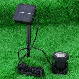 Wholesale Solar Powered Light Ip68 - Anself Outdoor Solar Powered LED Spotlight Garden Pool Waterproof Spot Light Lamp H8855