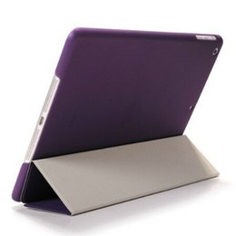 Wholesale Magnetic Ipad Skins - 2 in Magnetic Smart Cover Back Case for iPad 2 3 5 Air 6 Mini Frosted Matte Hard Plastic Crystal Shell Stand Solid Translucent Color