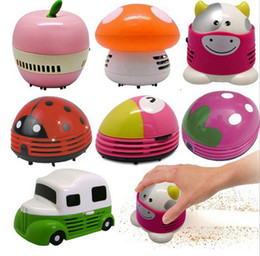 Wholesale Desktop Dust Cleaner - Functional Mini Cartoon Desktop Vacuum cleaner Dust Collector Laptop Notebook Computer keyboard Clean Brushes Mini Dust Collector Household