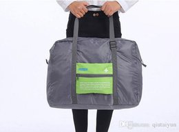 Wholesale Cabin Bags Wholesale - 2015 NEW Foldable Nylon Suitcase Hand Luggage Cabin Small Wheeled Travel Folding Flight Bag Large Capacity Case Travel Insert Handbag LB3