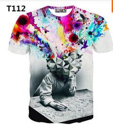 Wholesale Hot Model T Shirt - FG1509 Newest style 3d t shirt men t-shirt both side print good quality men's 3D t shirts Hot models casual t-shirts free ship