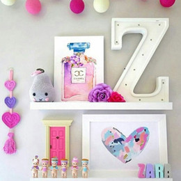 Wholesale Baby Nursery Toys - Novelty Wooden Letter Alphabet Led Lights Nursery Baby Sleep Night Light Fedding Lamp Children Bedroom Nordic Decor Light Up Toy