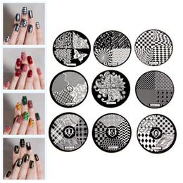 Wholesale Designer Templates - Wholesale-Flower Pattern Fashion DIY designer Steel Plate Nail Art Image Print Stamp Stamping Manicure Template DIY Polish Tools 9 Styles