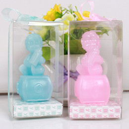 Wholesale Gift Shaped Candle - wholesale 10pieces lots baby angle shape candle birthday party decoration baby shower gift wedding favor