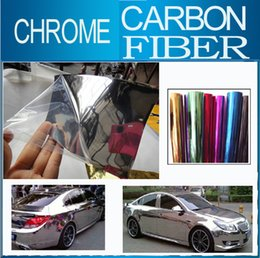 "Wholesale Black Chrome Wrap - 30cmx152cm 11.8""x60"" car vinyl wrap Phone Notebook Chrome Mirror Chrome Brush Chrome Car Body Wrap paster"