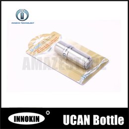 Wholesale E Cigarette Stainless Bottle - Authorised Innokin Ucan v2.0 10ml Needle Liquid Bottles Best Quality Empty Stainless Steel Bottles for E cigarette Free Shipping