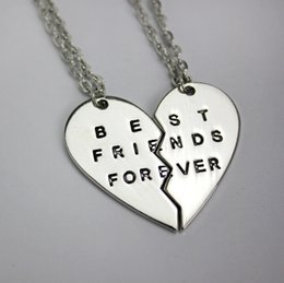 2015 Hotsale Broken Heart 2 Pcs Pendant Necklace Best Friends Forever  Necklace Lovers Necklaces Friendship Necklace Jewelry zn 108ea4f32f7a