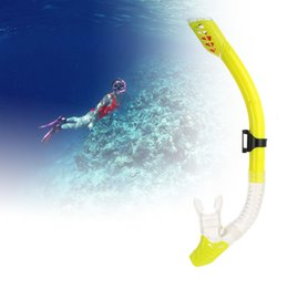 Wholesale Purge Snorkel - Anti-breakage Flexible Swimming Dry Snorkel Diving Spearfishing Scuba Snorkel Breathing Tube Silicone Mouthpiece One-way Purge Valve