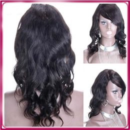 Wholesale tangle free lace wigs - Tangle Free Glueless Full Lace 100% Human Hair Wig Best Quality Remy thick human hair wig