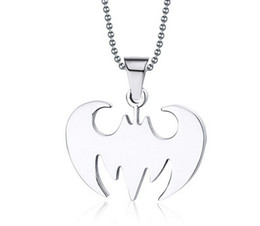 Wholesale Cheap Chains Pendants Men Wholesale - wholesale cheap 7 style chain necklace Bat pendant Stainless steel pendant Titanium steel necklace pendant Men and women pendant