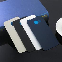 Para Samsung Galaxy S6 Edge Parte posterior de la tapa de la batería de vidrio para S6 G9200 S6 edge más DHL EMS Envío gratis desde fabricantes