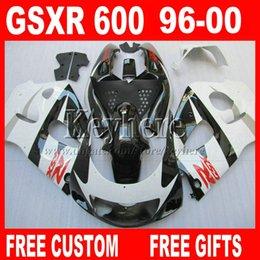 Wholesale 1998 Gsxr - In sale ! Fairing kit for SUZUKI SRAD 96 97 98 99 00 GSXR600 GSXR750 white black fairings parts gsxr 600 750 1996 1997 1998 1999 2000 5A7W