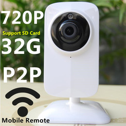 Wholesale Protection Monitoring - HD Securit Camera WIFI IP Cameras CCTV Cameras Baby Monitor Cameras Network Home Protection Mobile Remote Wireless WIFI 720P TF SD Card