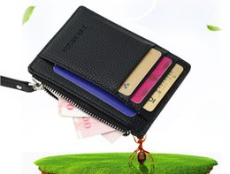 Wholesale Leather Card Holder Magic - Quality New Mens Money Clip Leather Billfold Clamp Wallets Magic Wallet Card Holder Money With Card Hold Luxury Men Wallets Brown