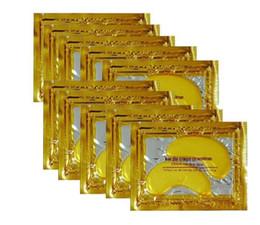 Wholesale Brand Sheet - Free shipping 5000packs New Brand Crystal Collagen Gold Powder Eye Mask Crystal Eye Mask Eyes masks Dark circle moisture