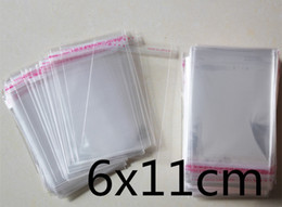 Wholesale Self Adhesive Packing Bag - 1000 PCS 6x11cm 6*11cm Packaging Self Adhesive bags Plastic OPP Clear Pack Jewelry Gift Bag Cookie Bag Poly Bag