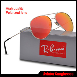Wholesale Waterproof Eyeglass Case - Unisex Fashion Polarized Sunglasses Reflective Mirror Retro Vintage Men Women Outdoor Sun glasses Classic Eyeglasses with free brown cases