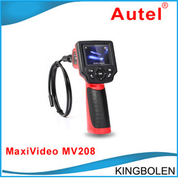 Wholesale Dhl Free Shipping Digital Camera - Original Autel Maxivideo MV208 Digital Videoscope 8.5MM inspection camera MV 208 Multipurpose Videoscope + DHL Free Shipping