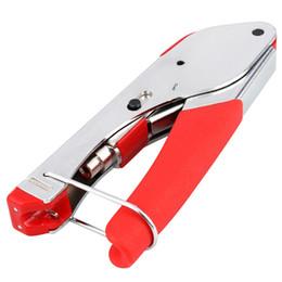 Wholesale Coax Crimper - New Fashion Crimping Tool Connector Compression Tool Crimper for Coaxial RG6 RG59 F BNC RCA Coax Cable free shipping