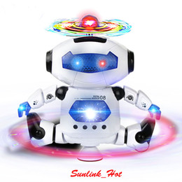 Wholesale Electric Music Rotating - Very hot sale smart electric dance robot toy with 100% brand new 360 degree rotating light music